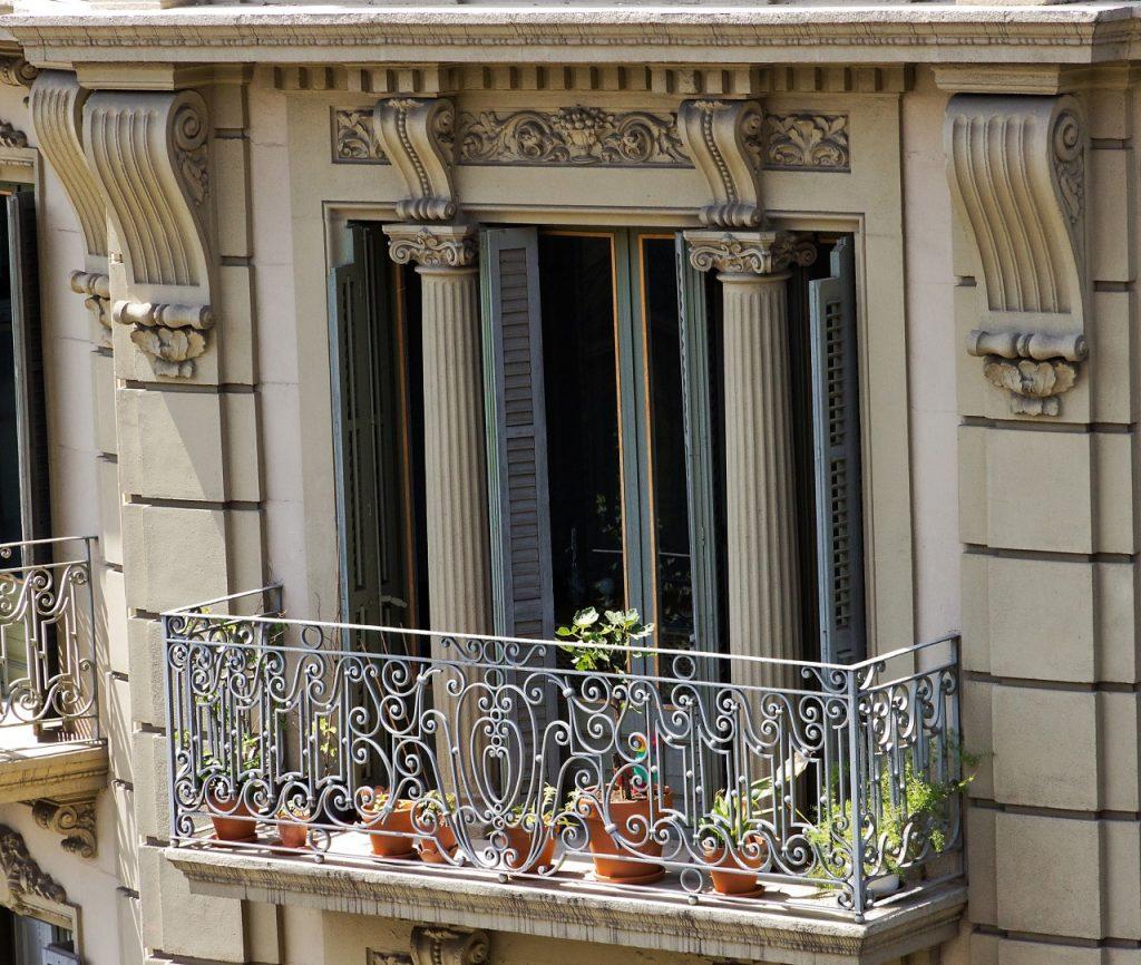 Modernist barcelona balcony